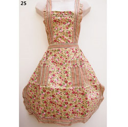 25 Colourful Striped Rose Country Style Apron