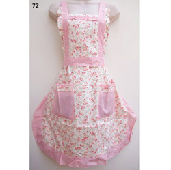 72 Pinny Flowers Pinky English Country Style Apron