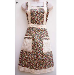 74 Seahorse Flowers English Country Style Apron