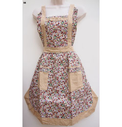 56 Brown Daisy Star Apron