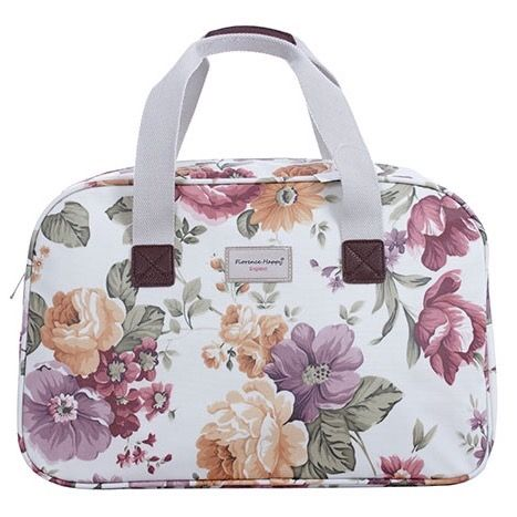 Spring Flowers Overnight Oilcloth Holiday Bag
