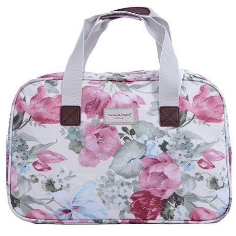 Dreamy Flowers Overnight Oilcloth Holiday Bag