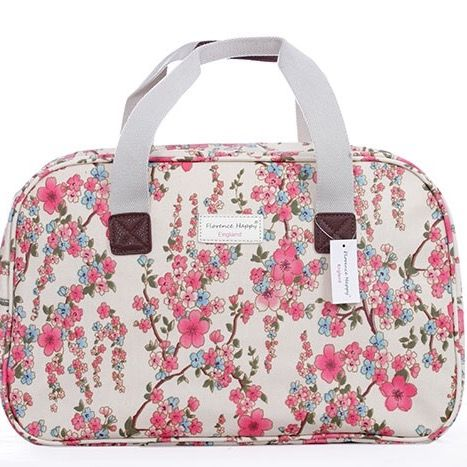 Cherry Blossom Oilcloth Holiday Weekender