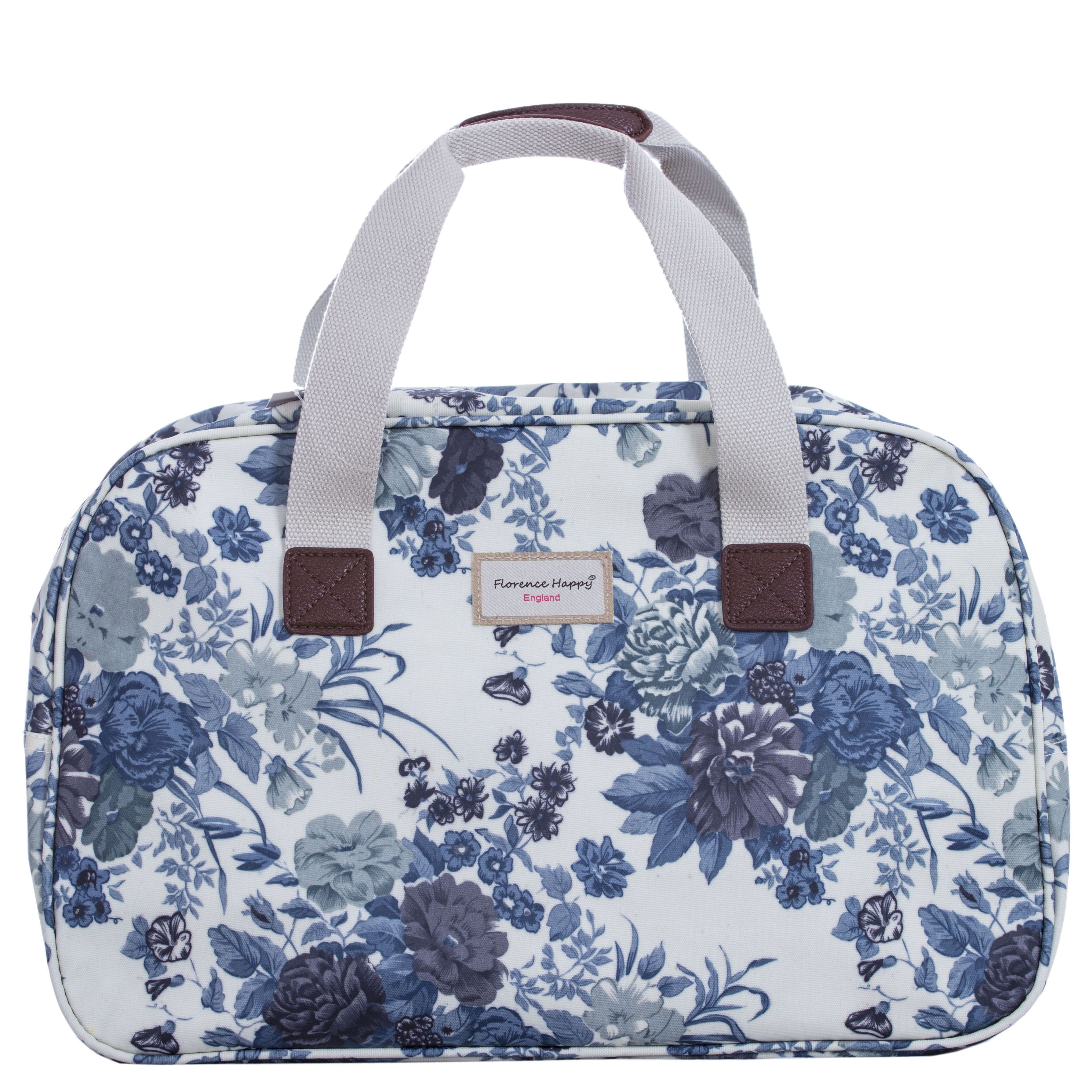 Blue Roses Oilcloth Holiday Bag