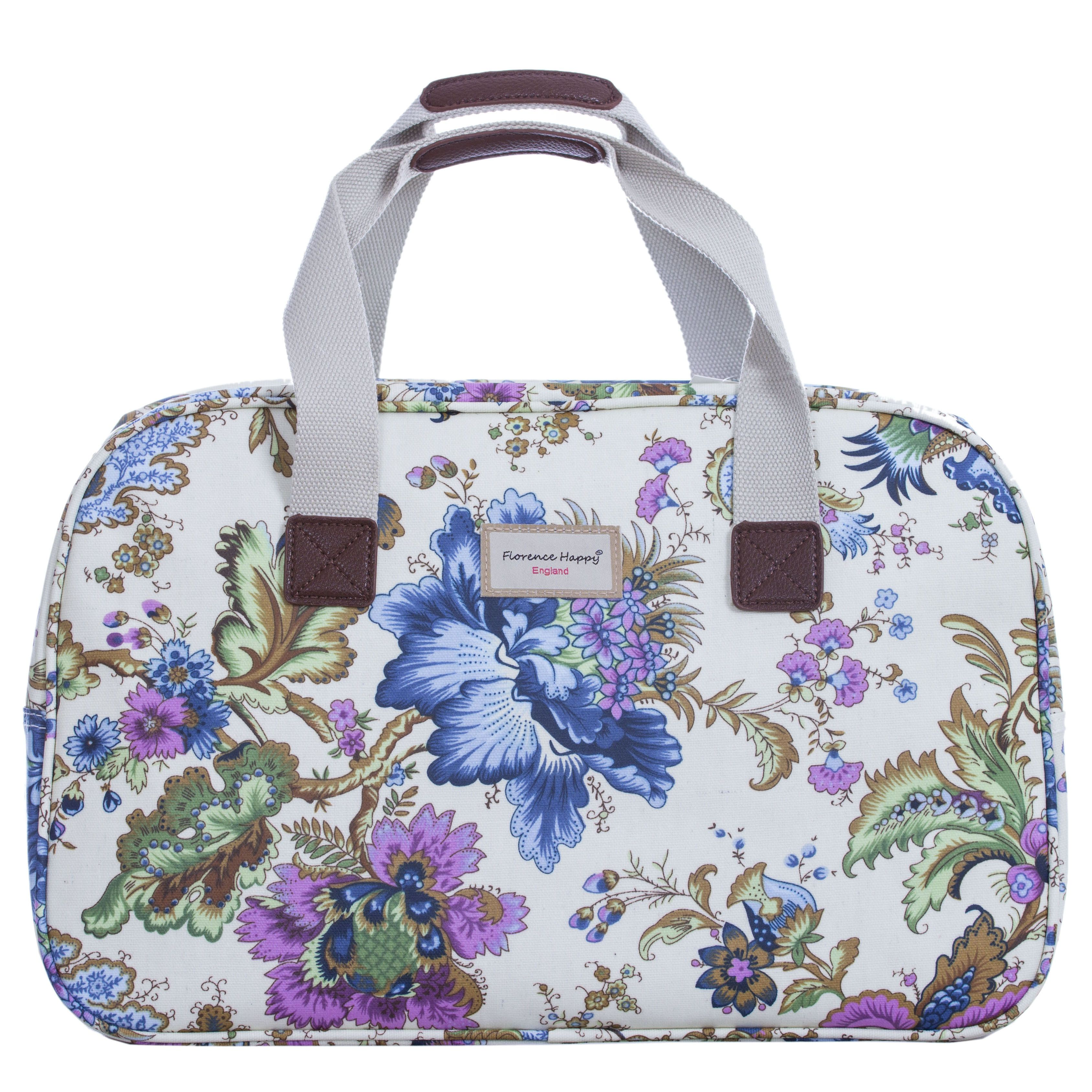 Ancient Flowers Oilcloth Holiday Bag