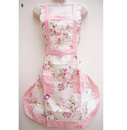 5 Rosy Stripe English Country Style Apron