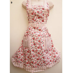 9 Indian Red Daisy Tea Party Apron